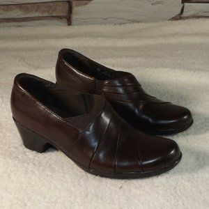 CLARKS Collection Soft Cushion Womens Brown 8M